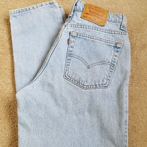Vintage Levi's High Waisted Mom Jeans 550 Tapered